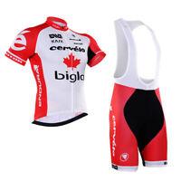 Men's Pro Cycling Jersey Bib Shorts Kits Short Sleeve Riding Shirt Shorts Set