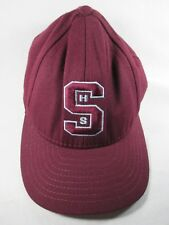 S H S Hatch Red Fitted 7 3/4 Baseball Cap Hat