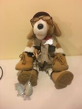 Build A Bear Dog With Fishing Gear Fishing Pole Glasses Vest Boots  Shorts