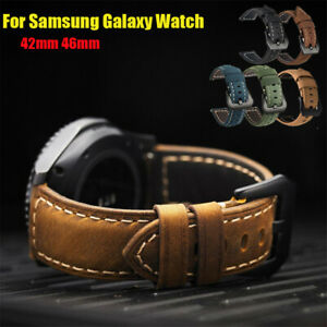 20mm 22mm Genuine Leather Wrist Strap For Samsung Galaxy Watch Active2/46mm Band