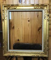 "Vintage Unique Wood Gold Gilt Frame Act 32x25x1 Canvas 24""x"