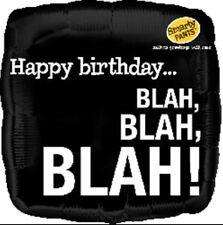 "Happy Birthday... BLAH, BLAH, BLAH! Funny 18"" Foil Helium Balloon Joke Novelty"