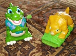 Land Before Time Burger King Wind up & Pull Back Toy~ Lot of 2 ~Cera & Ducky
