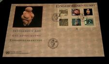 U.N. 2004, VIENNA, INDIGENOUS ART SHEET/6 ON OVER SIZED COVER, FDC NICE! LQQK!