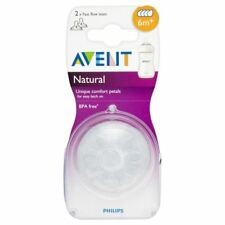 Avent Natural Teat - Fast Flow 4 Hole 6mth+ (2)