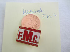 MIDDLESBROUGH F.M.C. RIVERSIDE STADIUM ENAMEL BADGE