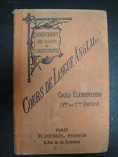 Cours de Langue Anglaise - 1904