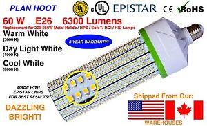 60Wt Industrial Shoebox,High Bay, Parking Lot Light Retrofit Corn Light, E26, UL