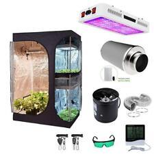 600D 90x60x135 Grow Tent 1200W Led Light Mylar Hydroponic Indoor Kit 4/6Inch Fan