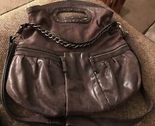 Banana Republic Brown Cow Leather Oversized Hobo Shoulder Bag