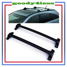 For 2007-2011 Honda CRV Black Roof Top Rail Rack Cross Bars Carrier