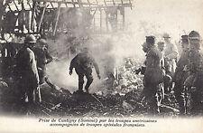 CANTIGNY Prise  par Troupes Américaines & Françaises Somme France Guerre 1918
