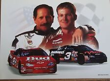 "Lot of 10 Dale Earnhardt and Dale Jr. 4"" x 6""  Litho Prints   Ready to Frame"