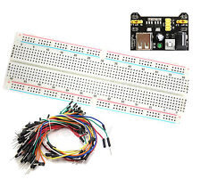 Mb-102 830 Point Testing Pcb Breadboard+65pcs Jump Cable Wires+Power Supply