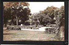 Mount Pleasant Iowa '40s RPPC Saunders Pk Playground IA
