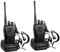 Long Range Walkie Talkie Set 50 Mile Two Way Radio Charge Headset Waterproof