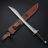 Custom Hand Made Forged Damascus steel SWORD with Leather Sheath