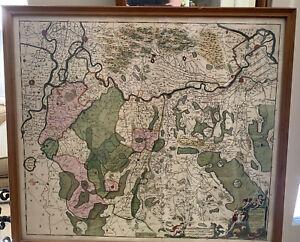 Antique Map-THE NETHERLANDS - COMITATUS ZUTPHANIAE - Frederick De Wit-1670