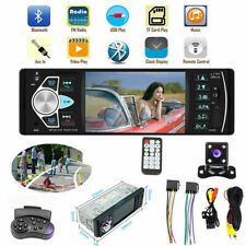 4.1'' Single 1DIN Car Stereo MP5 MP3 Player Bluetooth FM Radio USB AUX + Camera