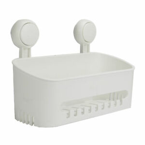 Suction Cup Shower Caddy Removable Bathroom Storage Basket Drill-Free Pukkr