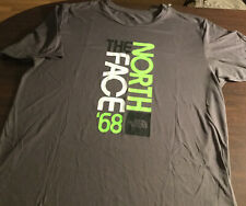 The North Face 1968 s/s Gray Crew T-shirt Polyester Mens Large