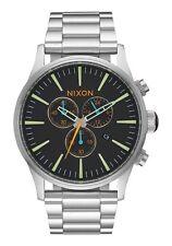 **BRAND NEW** NIXON WATCH THE SENTRY CHRONO BLACK / MULTI A3862336 NEW IN BOX!
