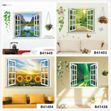 3D Flowers Forest Home Bedroom Decor Removable Wall Stickers Decals Decoration
