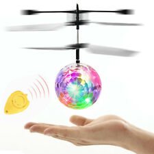 Electric RC Flying Ball Infrared Induction Aircraft LED Flash Light Kids Toys