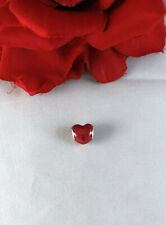 Sterling Silver Retired Ale Pandora Red Heart Charm Cat Rescue