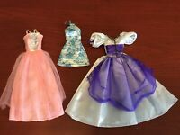 Lot of 3 Doll Clothes For Barbie & Other Dolls: Formal Gown Dress, Long Dress