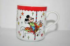 Walt Disney World Mug Mickey Minnie & Donald Riding the Carousel Merry-Go-Round