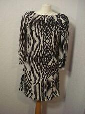 Ted Baker black & greys geometric print silk tunic dress 8 worn once