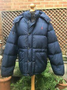 Ralph Lauren POLO Puffer Bubble hooded zip men's jacket size XL
