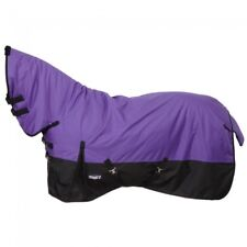 "78""  FULL COVER Horse Waterproof Purple Blanket W/Neck, Gussets, Tail Cover"