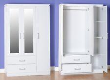 Charles White Bedroom Furniture 3 Door 2 Drawer Mirrored Wardrobe