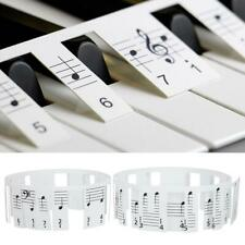 2Pcs Removable Piano Keyboard Stickers for 88 Key Electric Piano Grand Piano