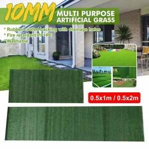 10mm Artificial Grass Mat Greengrocers Fake Turf Grass Lawn Yard Garden 0.5*2M