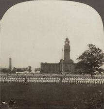 1000's of Uncle Sam's Sailors, Training Station at Great Lakes . WW1 Stereoview