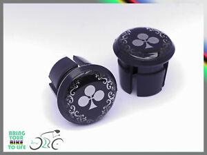Colnago Arabesque black / silver Plugs end Caps bouchons lenker vintage style