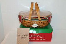 Longaberger Rare 2006 Nature/'s Garland Holiday Botanical liner mint never used!