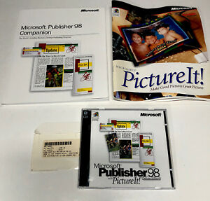 Microsoft Publisher 98 Deluxe With Picture It! For Windows 95