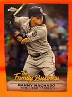 2019 Topps Chrome Update MANNY MACHADO Refractor Family Business Padres🔥