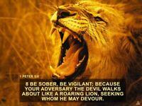 1 Peter 5:8 Poster Be Vigilant Bible Verse Quote Wall Art (24x18)