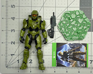 """1/18 or 4"""" scale Jazwares Infinite series World of Halo Spartan Master Chief 01"""