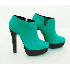 Deena & Ozzy Urban Outfitters Turquoise Suede Platform Heels RRP £110 size 5