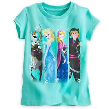 Disney Frozen Cast Tee Shirt for Girls, size 4