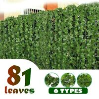 Artificial Faux Ivy Leaf Hedge Garden Privacy Fence Screen Balcony Wall