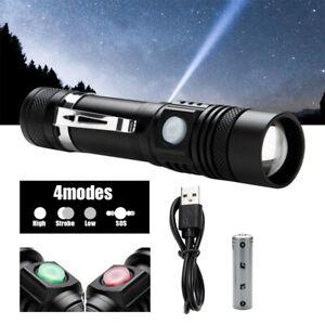 Taschenlampe LED Polizei 1-500 Meter 80000LM Wiederaufladbar Cree Handlampe