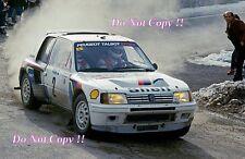 Ari Vatanen Peugeot 205 Turbo 16 Winner Monte Carlo Rally 1985 Photograph 3