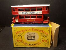 "VTG LESNEY MODELS OF YESTERYEAR NO 3 ""E"" CLASS METAL TRAMCAR Y-3 ORIGINAL BOX"